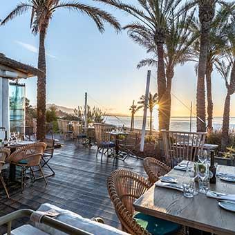 terrace restaurant on the beach marbella estepona